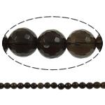 Natürliche Rauchquarz Perlen, rund, 4mm, Bohrung:ca. 1.5mm, Länge:ca. 15.7 ZollInch, 20SträngeStrang/Menge, verkauft von Menge