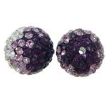Diamant i rremë balta Beads hapë, Argjilë, Round, asnjë, asnjë, asnjë, 12mm, : 1.8mm, 50PC/Shumë,  Shumë