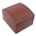 Shikojnë bizhuteri Box, Plastik, with Velveteen, Drejtkëndësh, asnjë, për çift, i kuq, 85x60x95mm, 6PC/Shumë,  Shumë