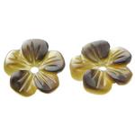 Beads Zi Shell, Black Shell, Lule, Gdhendur, asnjë, asnjë, 8x8x2mm, : 0.8mm, 50PC/Qese,  Qese