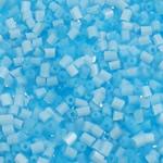 Opaque Glass Beads Seed, Seed Glass Beads, Tub, asnjë, matte & ngjyra të forta, dritë blu, 2x2mm, : 1mm, 30000PC/Qese,  Qese