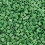 2 Glass Beads Pritini Seed, Seed Glass Beads, Tub, asnjë, ngjyra të forta, e gjelbër, 2x2mm, : 1mm, 30000PC/Qese,  Qese
