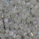Rainbow Seed Glass Beads, Tub, ylber, i tejdukshëm, qartë, 4x3.5mm, : 1.5mm, 5000PC/Qese,  Qese