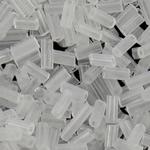 2 Glass Beads Pritini Seed, Seed Glass Beads, Tub, asnjë, i tejdukshëm, qartë, 2x5mm, : 1mm, 15000PC/Qese,  Qese