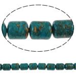 Bruz Beads, Bruz Mozaiku, Kolonë, sintetik, asnjë, blu, 10x12mm, : 1mm, :15.7Inç, 10Fillesat/Qese,  Qese