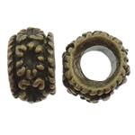 Beads Zink Alloy Vendosja, Alloy zink, Daulle, Ngjyra antike bronz i praruar, asnjë, asnjë, , nikel çojë \x26amp; kadmium falas, 13x8mm, : 6mm, 200PC/Qese,  Qese