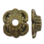 Alloy zink Bead Cap, Lule, Ngjyra antike bronz i praruar, asnjë, asnjë, , nikel çojë \x26amp; kadmium falas, 8x9.50x3mm, : 2mm, 1000PC/Qese,  Qese