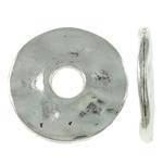 Washers Zink Alloy bizhuteri, Alloy zink, Round Flat, Ngjyra antike argjendi praruar, asnjë, asnjë, , nikel çojë \x26amp; kadmium falas, 14x1.5mm, : 3mm, 830PC/KG,  KG