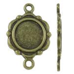 Zink Alloy Connector Setting, Alloy zink, Lule, Ngjyra antike bronz i praruar, 1/1 loop, asnjë, , nikel çojë \x26amp; kadmium falas, 15x23x1.50mm, : 2mm, 830PC/KG,  KG