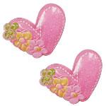 Rrëshirë Cabochon, Zemër, asnjë, pluhur ngjyra, rozë, 22x29mm, 200PC/Qese,  Qese