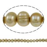 Patates Beads ujërave të ëmbla kulturuar Pearl, Pearl kulturuar ujërave të ëmbla, i lyer, i verdhë, 8-9mm, : 1mm, : 15.3Inç,  15.3Inç,