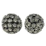 Beads bizhuteri Diamant i rremë, with Tunxh, Round, plumbit ngjyrë të zezë praruar, i uritur, asnjë, 17mm, : 2mm, 5PC/Qese,  Qese