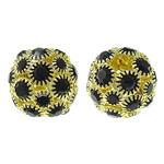 Beads bizhuteri Diamant i rremë, with Tunxh, Round, ngjyrë ari praruar, i uritur, asnjë, 15mm, : 4.5mm, 10PC/Qese,  Qese