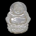 Pendants Natyrore White Shell, Buda, Gdhendur, asnjë, asnjë, 30x40x6mm, : 1mm, 5PC/Shumë,  Shumë