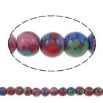 Bruz Beads, Bruz Mozaiku, Round, sintetik, asnjë, asnjë, 6mm, : 0.8mm, : 14Inç, 68PC/Fije floku,  14Inç,