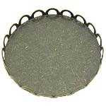 Tunxh Settings Cabochon, Round Flat, Ngjyra antike bronz i praruar, asnjë, asnjë, , nikel çojë \x26amp; kadmium falas, 26x26x3mm, : 25mm, 400PC/Shumë,  Shumë