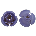 Beads bizhuteri Hekuri, Lule, stoving llak, asnjë, blu, , nikel çojë \x26amp; kadmium falas, 8x7.50x5mm, : 1mm, 500PC/Shumë,  Shumë