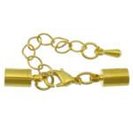 Karavidhe tunxh Claw Cord kapje, Shape Tjera, ngjyrë ari praruar, asnjë, asnjë, , nikel çojë \x26amp; kadmium falas, 32mm, 8.5x4mm, : 3mm, 200Sets/Shumë,  Shumë