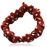 Elastike Hair, Silk pe, Shape Tjera, elastik, spot bardhë, i kuq, 65x65mm, 34PC/Shumë,  Shumë