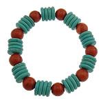 Fashion Bracelets Turquoise, Bruz sintetike, Shape Tjera, i lyer, asnjë, dy-ton, 10mm, 12x2.5mm, : 1mm, 20Fillesat/Shumë,  Shumë