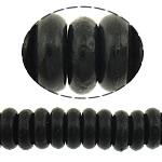 Bruz Beads, Bruz sintetike, Rondelle, i lyer, asnjë, e zezë, 8x3mm, : 1mm, :16Inç, 20Fillesat/Shumë, 127pcs/strand,  Shumë