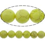 Bruz Beads, Bruz sintetike, Round, i lyer, asnjë, i verdhë, 10mm, : 1mm, :16Inç, 10Fillesat/Shumë, 40pcs/strand,  Shumë