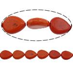 Bruz Beads, Bruz sintetike, Lot, i lyer, asnjë, i kuq, 20x15x6.50mm, : 1mm, :16Inç, 20Fillesat/Shumë, 21pcs/strand,  Shumë