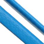 Cord lëkure, PU, Shape Tjera, asnjë, asnjë, blu, 4x2mm, 100PC/Shumë,  Shumë