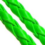 Cord lëkure, PU, Shape Tjera, asnjë, asnjë, e gjelbër, 4mm, 100m/Shumë,  Shumë