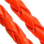 Cord lëkure, PU, Shape Tjera, asnjë, asnjë, i kuq, 4mm, 100m/Shumë,  Shumë