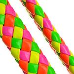 Cord lëkure, PU, Shape Tjera, asnjë, asnjë, multi-colored, 10x6mm, 100m/Shumë,  Shumë