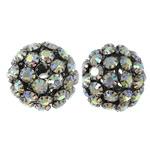 Beads bizhuteri Diamant i rremë, Tunxh, Daulle, plumbit ngjyrë të zezë praruar, me diamant i rremë & i uritur, asnjë, , nikel çojë \x26amp; kadmium falas, 30x27.5mm, : 5.5mm, 2PC/Qese,  Qese