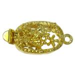 Box Gjetjet bronzi shtrëngim duarsh, Tunxh, Oval, ngjyrë ari praruar, vetme-fillesë & i uritur, asnjë, , nikel çojë \x26amp; kadmium falas, 9x20x7mm, : 1mm, 10PC/Qese,  Qese