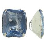 Beads bizhuteri Diamant i rremë, Tunxh, with Xham, Drejtkëndësh, ngjyrë platin praruar, asnjë, asnjë, , nikel çojë \x26amp; kadmium falas, 11x13x7mm, : 1x3mm, 10PC/Qese,  Qese