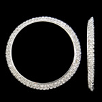 Bizhuteri tunxh Gjetja, Petull e ëmbël në formë gjevreku, Ngjyra argjend praruar, me diamant i rremë, asnjë, , nikel çojë \x26amp; kadmium falas, 58x5mm, : 48mm, 2PC/Qese,  Qese