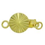 Kutia tunxh kapje, Round Flat, ngjyrë ari praruar, vetme-fillesë, asnjë, , nikel çojë \x26amp; kadmium falas, 8x15x4.50mm, : 2mm, 10PC/Qese,  Qese