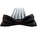 Combs dekorative Flokët, Saten Ribbon, with Plastik, asnjë, asnjë, e zezë, 9.5x4cm, 8.5cm, 55PC/Shumë,  Shumë