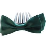 Combs dekorative Flokët, Saten Ribbon, with Plastik, asnjë, asnjë, jeshile të thellë, 9.5x4cm, 8.5cm, 55PC/Shumë,  Shumë