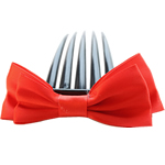 Combs dekorative Flokët, Saten Ribbon, with Plastik, asnjë, asnjë, i kuq, 9.5x4cm, 8.5cm, 55PC/Shumë,  Shumë