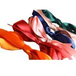 Flokeve barrettes, Saten Ribbon, with Stainless Steel, asnjë, asnjë, ngjyra të përziera, 13.5cm, 8.2x1cm, 47PC/Shumë,  Shumë