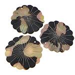 Pendants Shell, Deti Shell, Lule, asnjë, asnjë, asnjë, 51x51x2-3mm, : 1.5mm, 20PC/Shumë,  Shumë