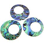 Pendants Natyrore predhë guaskë, Shell Guaskë, Round Flat, asnjë, asnjë, asnjë, 35x35x1-2mm, : 1.5mm, 30PC/Shumë,  Shumë