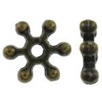 Alloy zink, Flok dëbore, Ngjyra antike bronz i praruar, asnjë, asnjë, , nikel çojë \x26amp; kadmium falas, 7x7.50x2mm, : 1.5mm, 5000PC/KG,  KG