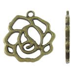 Alloy zink, Lule, Ngjyra antike bronz i praruar, i uritur, asnjë, , nikel çojë \x26amp; kadmium falas, 22x23x2mm, : 2mm, 450PC/KG,  KG
