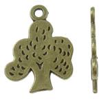 Pendants Zink Alloy Leaf, Alloy zink, Pemë, Ngjyra antike bronz i praruar, asnjë, asnjë, , nikel çojë \x26amp; kadmium falas, 15x20x1mm, : 2mm, 995PC/KG,  KG