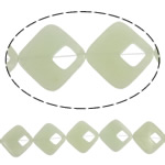Beads Jade, Jade Mountain New, Romb, natyror, asnjë, 37x36x6mm, : 2mm, :15.8Inç, 5Fillesat/Shumë,  Shumë