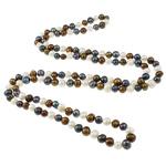 Natyrore ujërave të ëmbla Pearl gjerdan, Pearl kulturuar ujërave të ëmbla, Shape Tjera, i lyer, asnjë, 8-9mm, :46Inç,  46Inç,