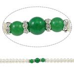 Button Beads ujërave të ëmbla kulturuar Pearl, Pearl kulturuar ujërave të ëmbla, with Jeshile agat & Tunxh, Shape Tjera, natyror, asnjë, 8-9mm, 8-10mm, : 0.8-2mm, :15.7Inç,  15.7Inç,