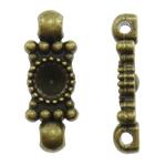 Alloy zink, Drejtkëndësh, Ngjyra antike bronz i praruar, 1/1 loop, asnjë, , nikel çojë \x26amp; kadmium falas, 8x20.50x4mm, : 1.5mm, 660PC/KG,  KG