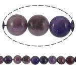 Beads kuarc bizhuteri, Ametist, Round Flat, natyror, asnjë, 18x10mm, : 2mm, : 16Inç, 5Fillesat/Shumë,  Shumë